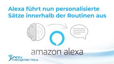 Alexa personalisierte Sätze