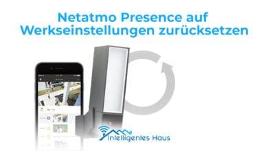Werkseinstellungen Netatmo Presence