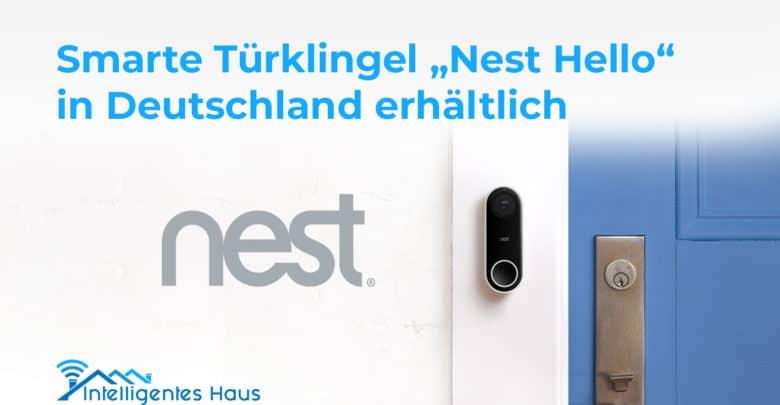 smarte t rklingel nest hello ab sofort in deutschland. Black Bedroom Furniture Sets. Home Design Ideas