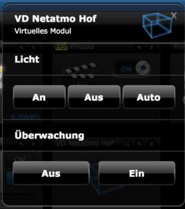 Virtuelles Modul Licht und Überwachung