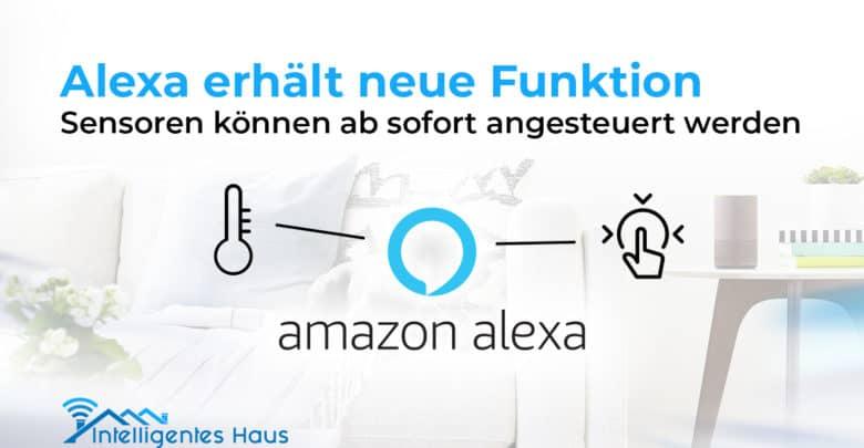 Sensoren sind mit Alexa nutzerbar