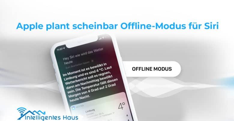 Offline-Modus für Siri