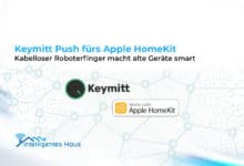 "Photo of Keymitt Push fürs Apple HomeKit: Kabelloser ""Roboterfinger"" macht alte Geräte smart"